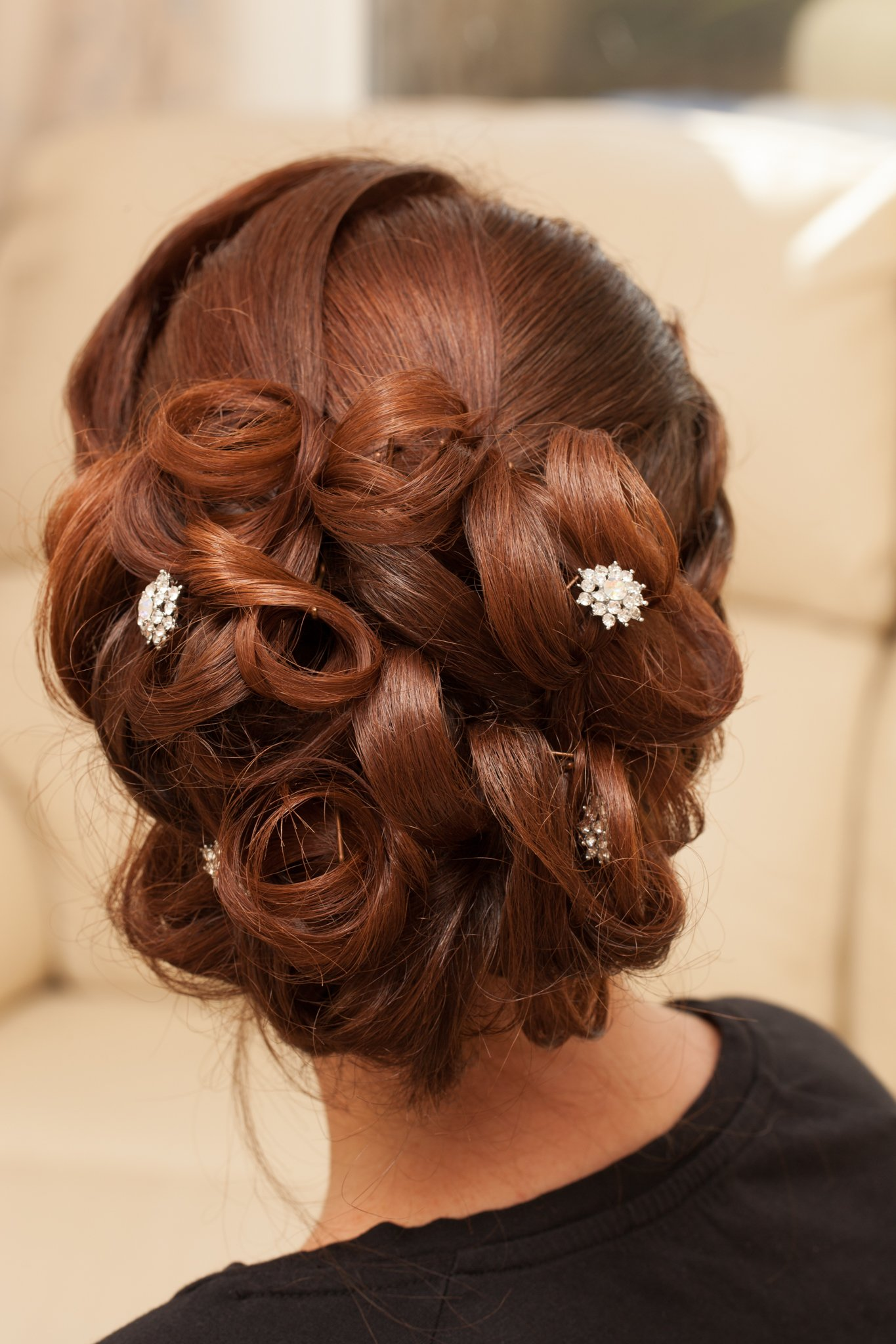 Wedding day; hairstyles, Tania Miller Photography, Cwmbran wedding photographer, Newport wedding photographer