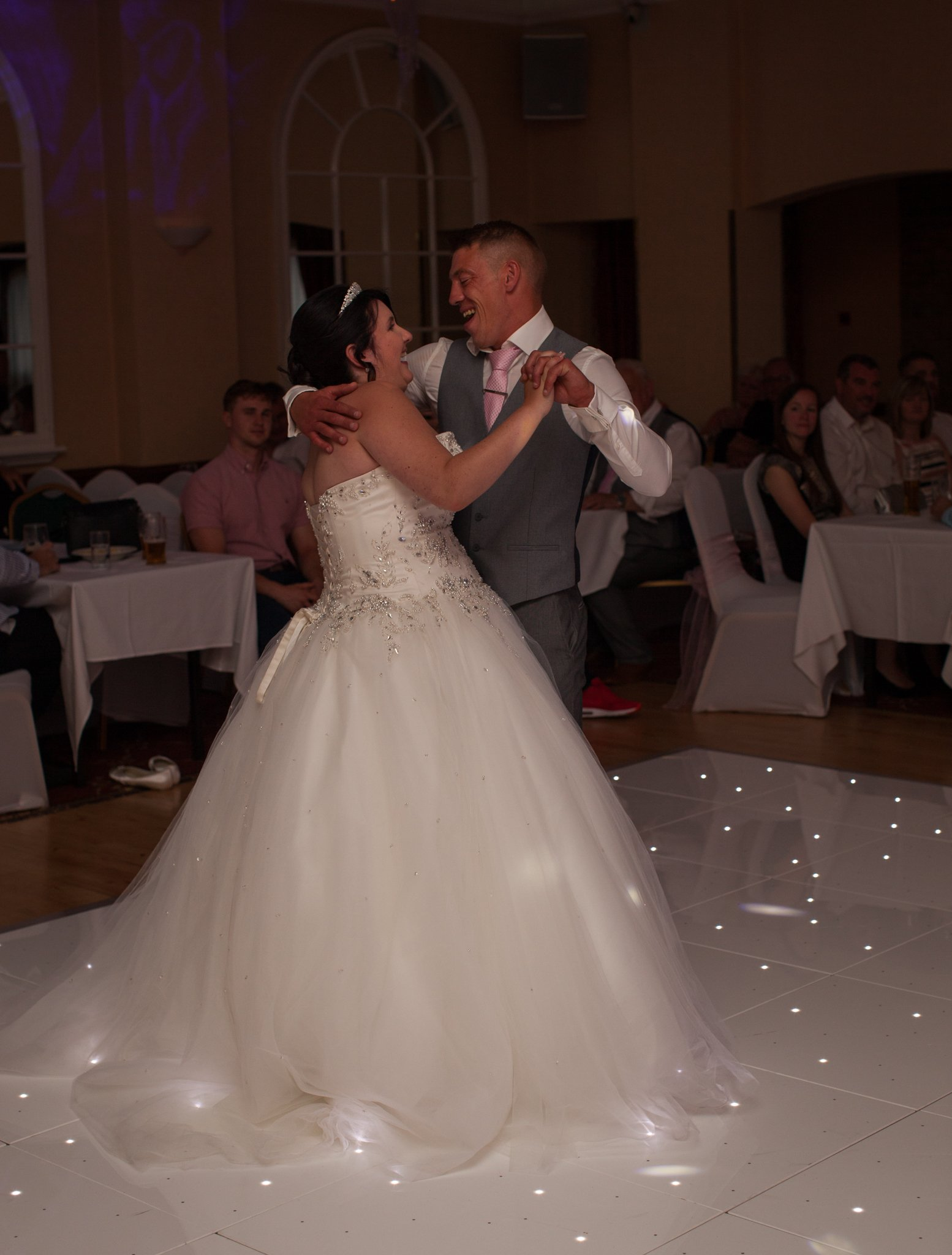 Cwmbran Wedding Photographer, Parkway Hotel Cwmbran Photographer, First Dance, Tania Miller Photography