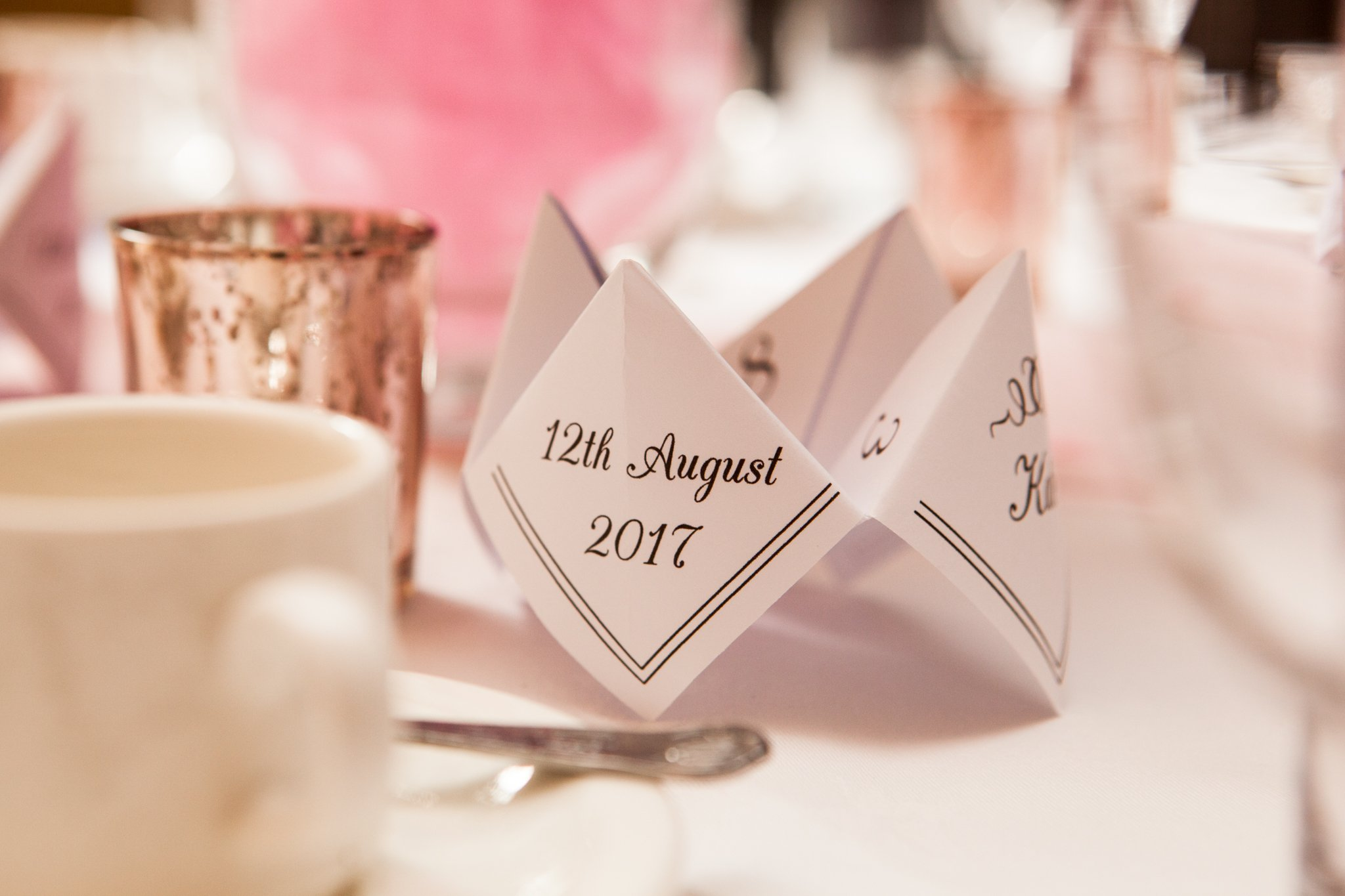 Table decor, Llansantffraed Court Wedding, Tania Miller Photography
