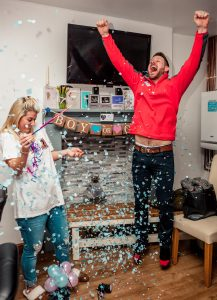 Gender Reveal Party in Ebbw Vale, It's a boy!, Family Photographer, Tania Miller Photography