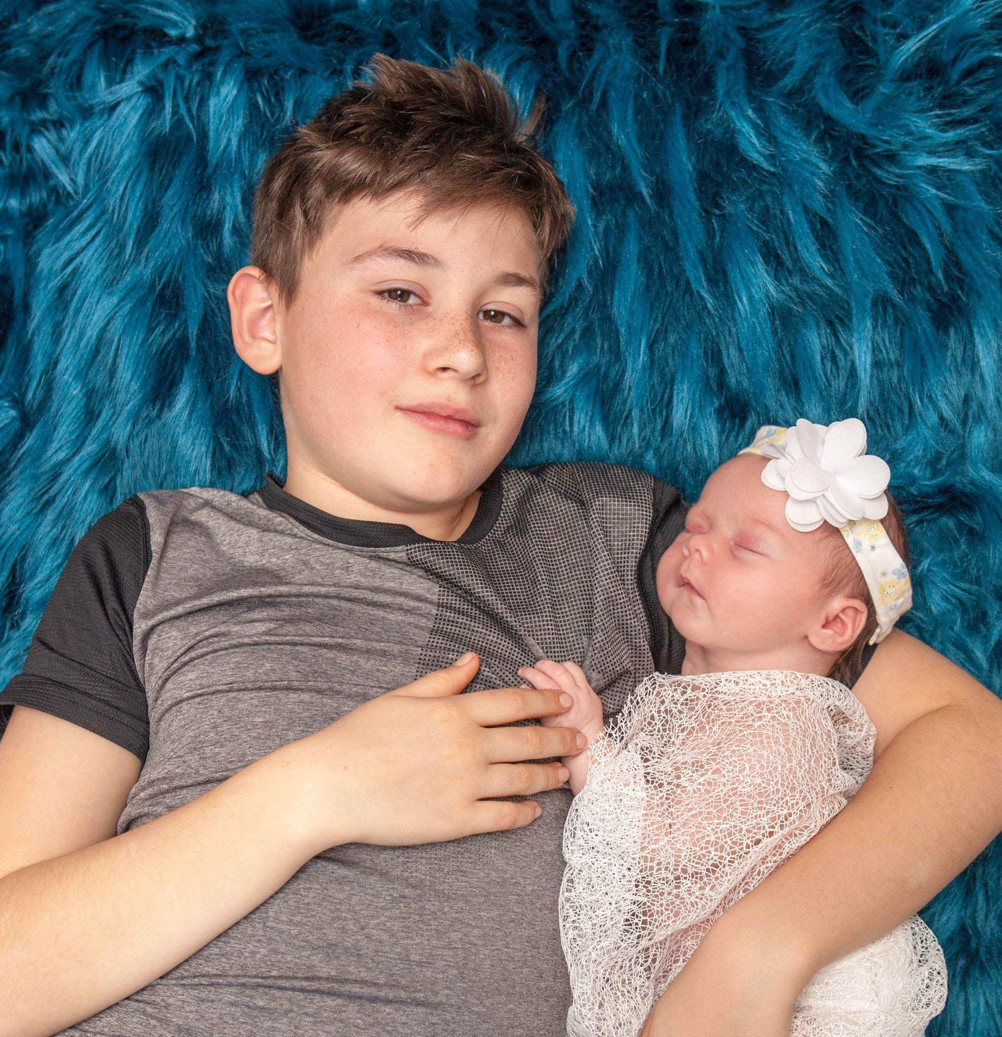 Newborn Session with Eva-Rose, big brother Dylan, Tania Miller Photographer, Pontypool Newborn Photographer