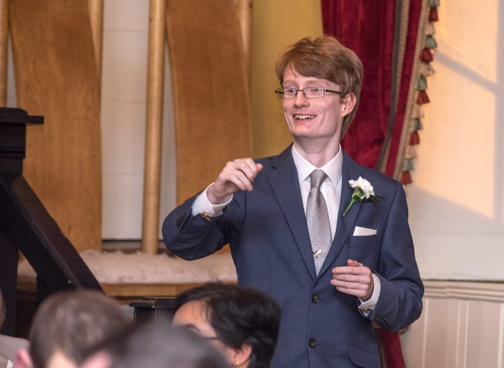 Wedding of Andy & Rose, The Sppech House Coleford, Best Man Speech, Tania Miller Photography