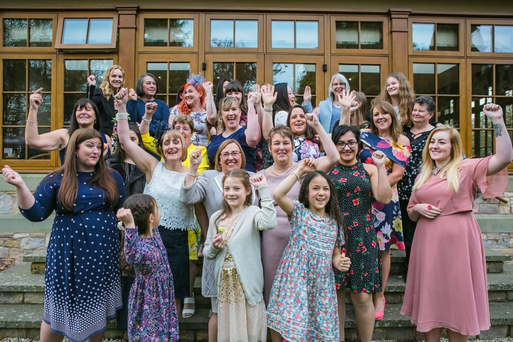 Wedding of Andy & Rose, The Sppech House Coleford, All the Girlies, Tania Miller Photography