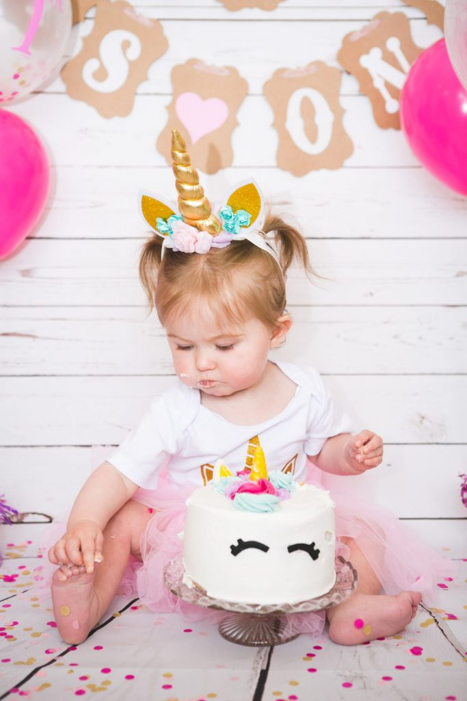 Cake Smash with Havana, one year old, Tania Miller Photography, Pontypool Child Photographer