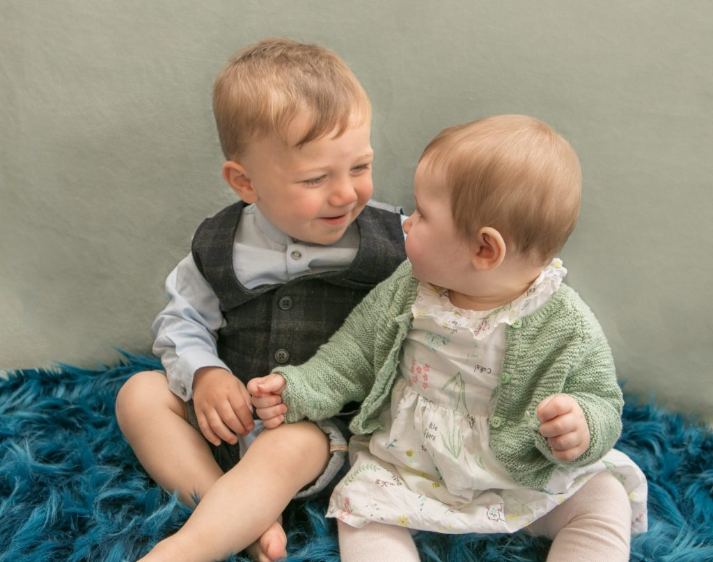 18 month old Luca, 6 month old Elsie, Tania Miller Photography, Cwmbran newborn photographer