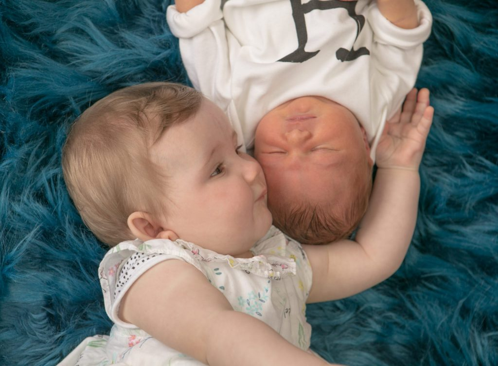 Newborn Session with Baby Harry, 6 month old Elsie, Tania Miller Photography, Cwmbran newborn photographer