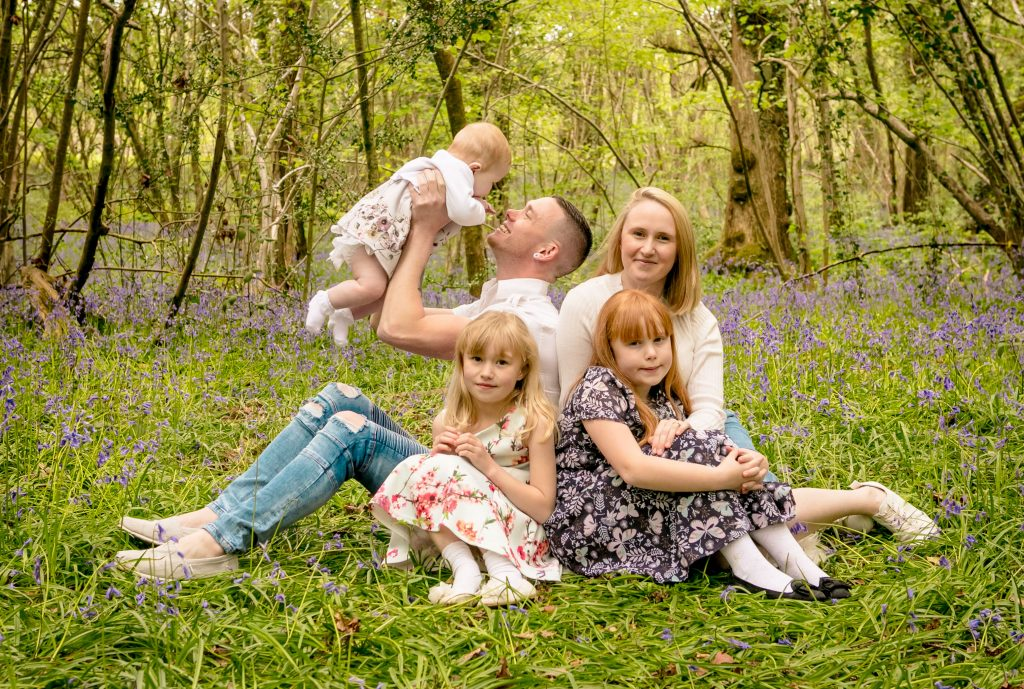 Bluebell Photoshoot, Tania Miller Photography, Pontypool family photographer