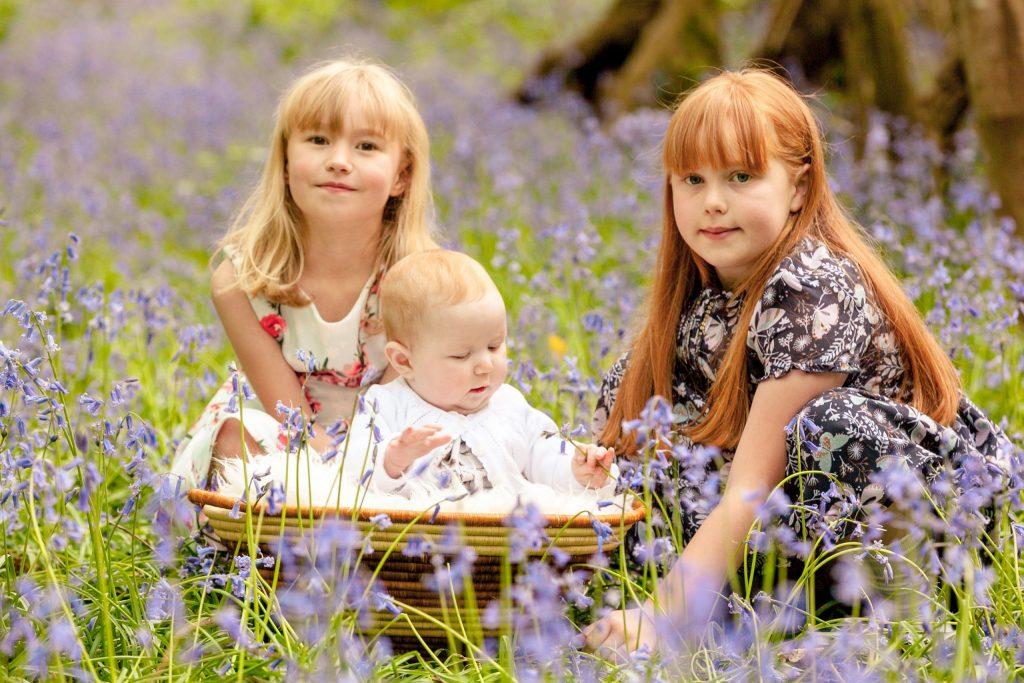 Bluebell Photoshoot, Tania Miller Photography, Pontypool family photographer