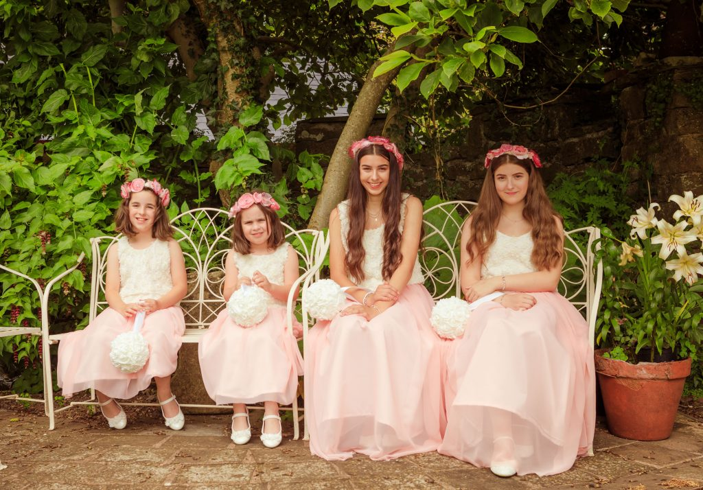Wedding at Usk Castle, Bridesmaids, Tania Miller Photography, Usk Wedding Photographer