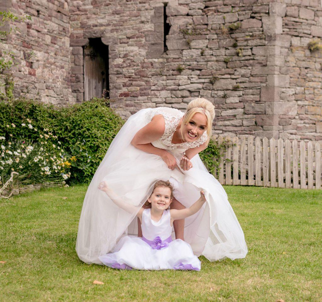 Brecon Castle Hotel Wedding, Mother & daughter, Tania Miller Photography, Brecon Wedding Photographer