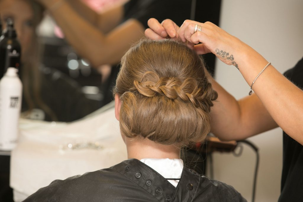 Wedding of Jake & Briony, Bridal Hair, Tania Miller Photography, Cwmbran Wedding Photographer