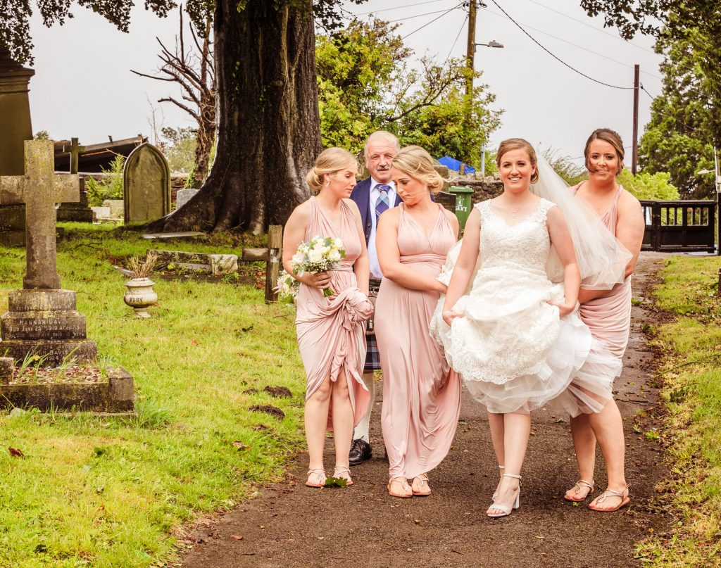 Wedding of Jake & Briony, Arriving at Church, Tania Miller Photography, Cwmbran Wedding Photographer