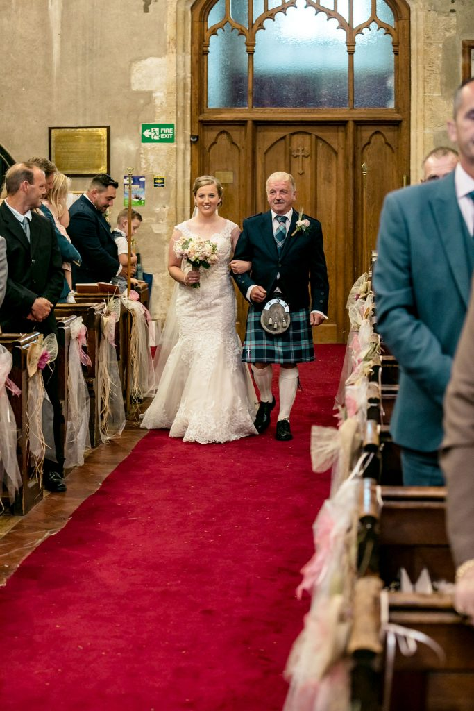 Wedding of Jake & Briony, Walking down the Aisle, Tania Miller Photography,