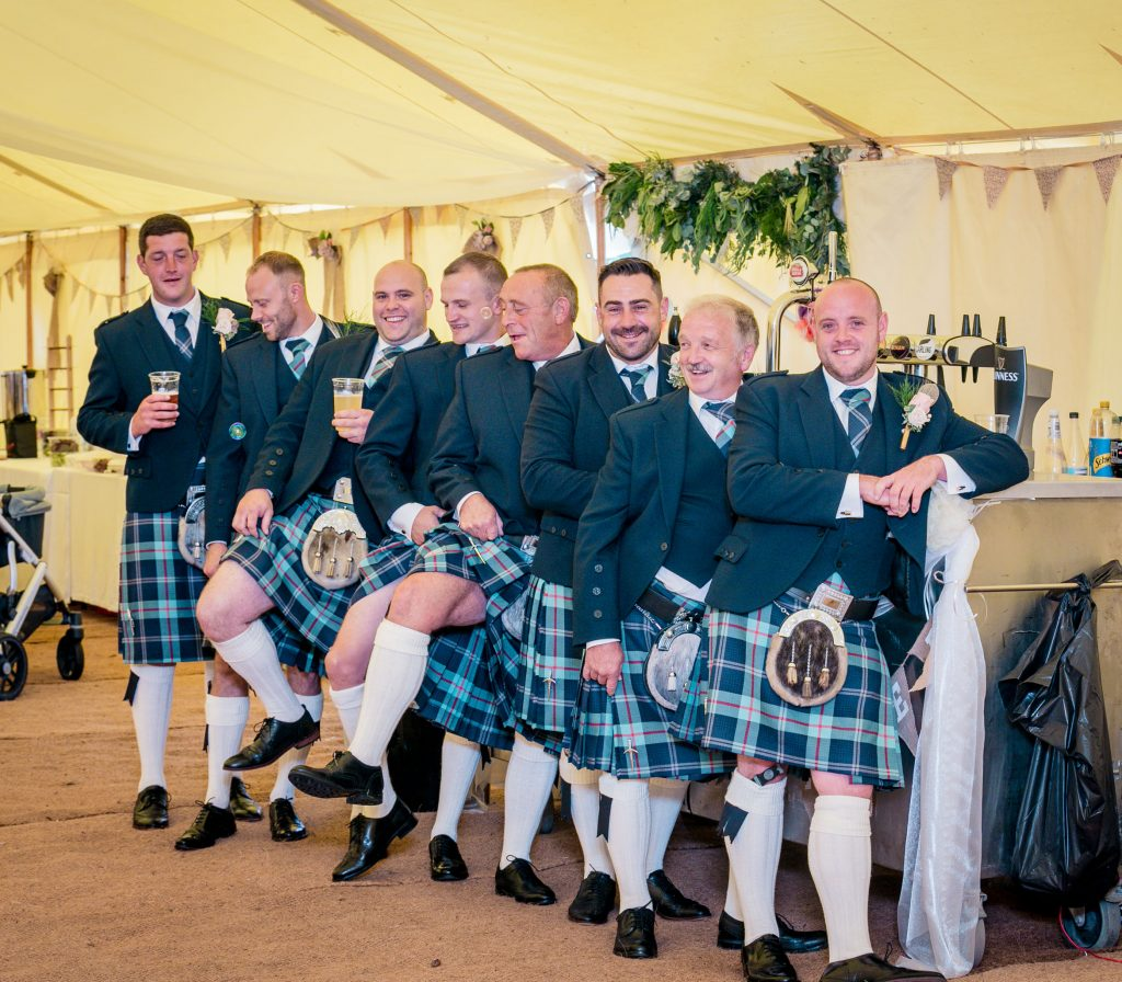Wedding of Jake & Briony, Welsh Tartan, Tania Miller Photography,