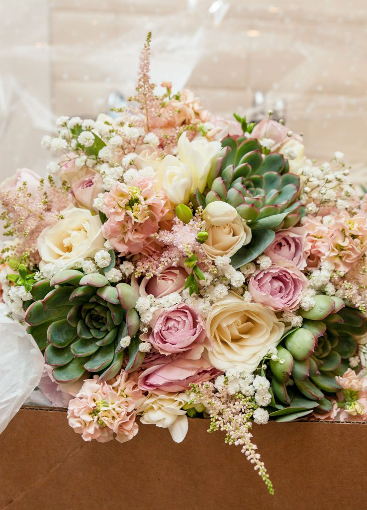 Wedding of Jake & Briony, Brides Bouquet, Tania Miller Photography,