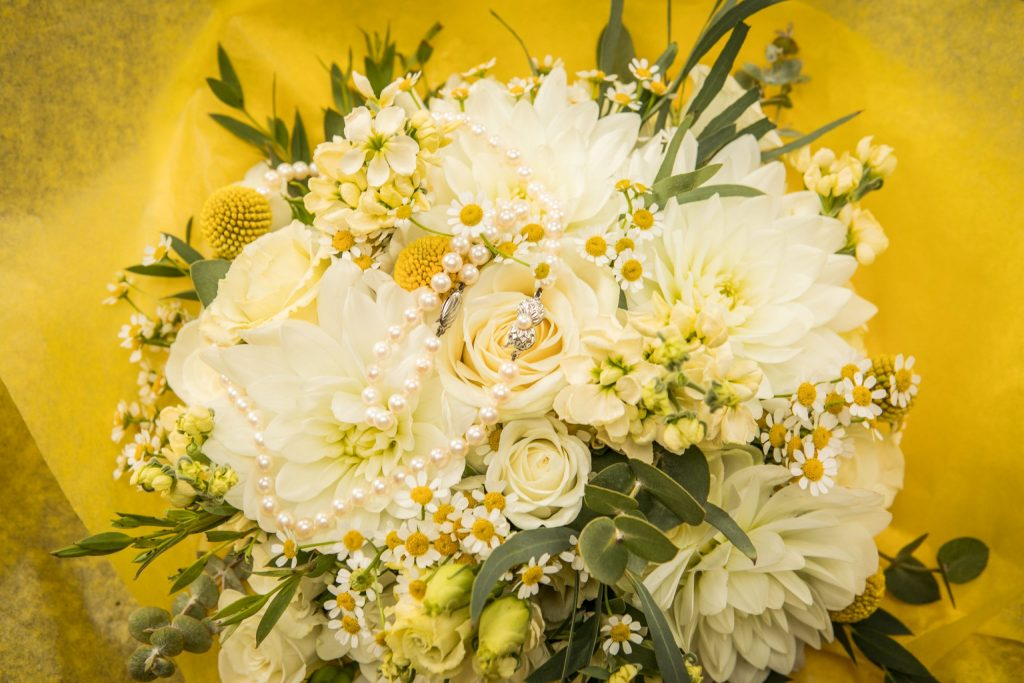 Bridal bouquet,Wedding of Karen & George at Brooks Country House, Tania Miller Photography, Monmouth Wedding Photographer