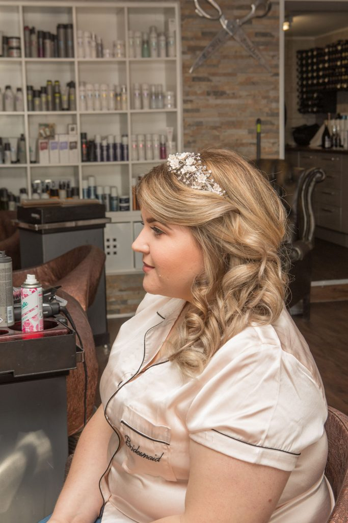 Bridesmaid Hair, BroDan's Hair Salon, Cardiff, Tania Miller Photography, Cardiff Wedding Photographer