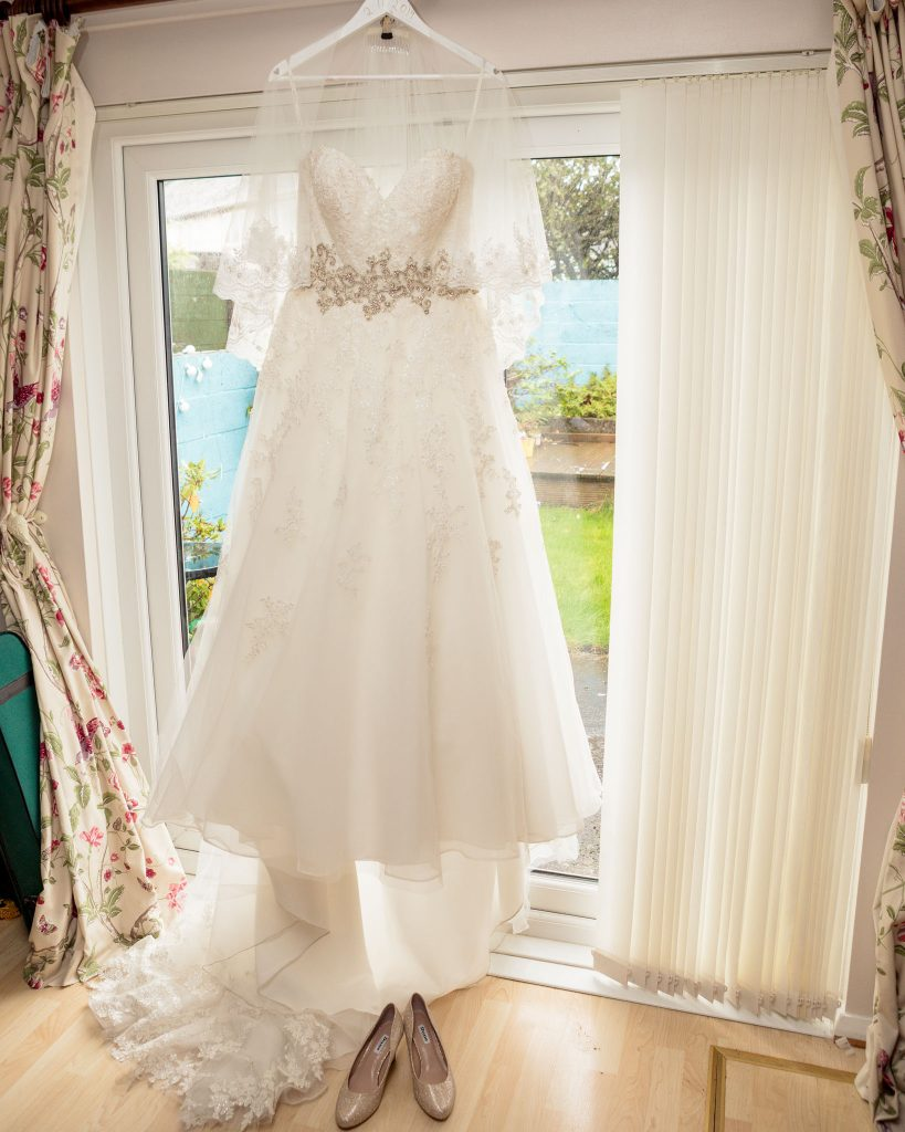 Brides dress, Laura May Bridal Cardiff, Tania Miller Photography, Cardiff Wedding Photographer