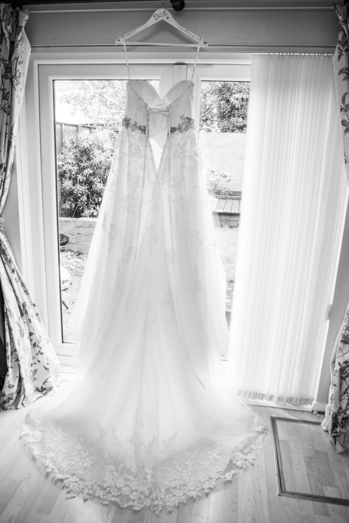 Brides dress, Tania Miller Photography, Cardiff Wedding Photography