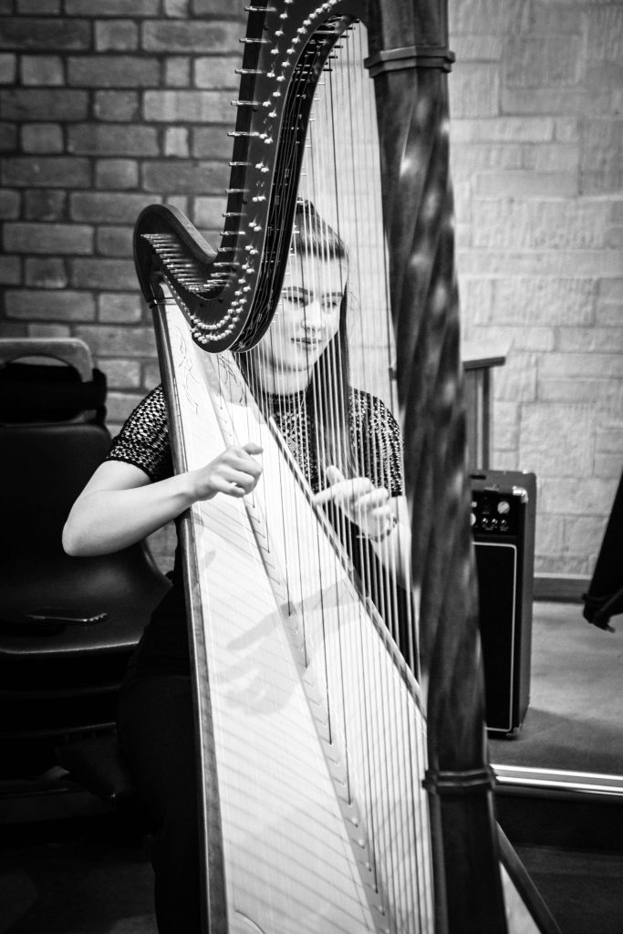 Katie Bayliss Harpist,Tania Miller Photography, Cardiff Wedding Photographer