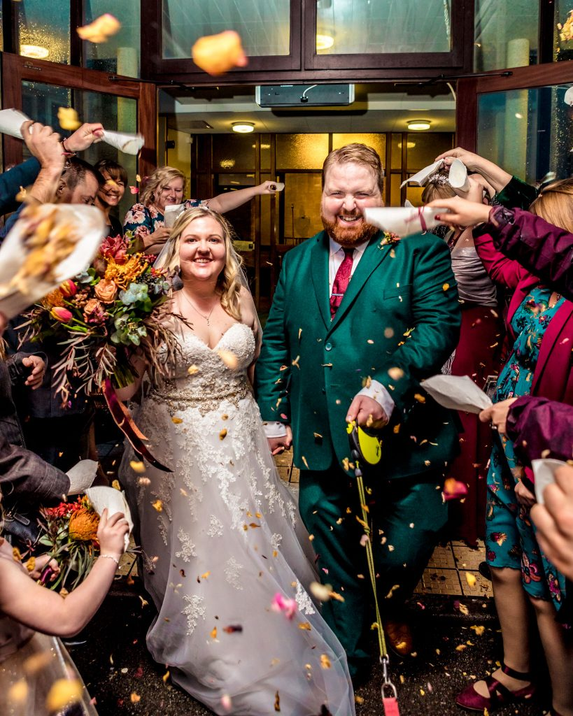 Confetti shot, St Marks Church Gabalfa, Cardiff Wedding, Tania Miller Photography