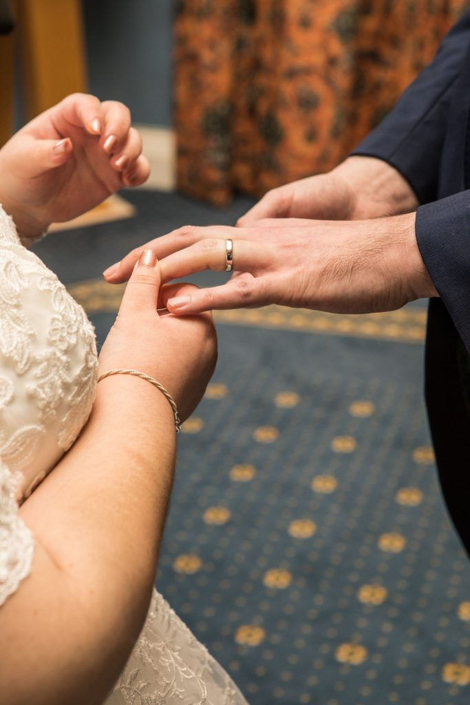 Exchange of rings,City Hall, Cardiff, Tania Miller Photography, Cardiff Wedding Photographer