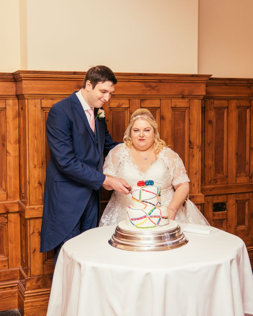Hannah & John, Cutting of the Cake, Tania Miller Photography, Cardiff Wedding Photographer