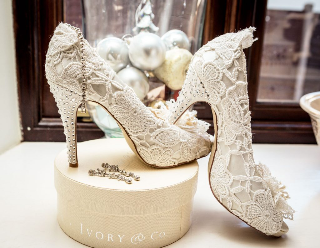 Bridal Shoes, Tania Miller Photography, Monmouth Wedding Photographer