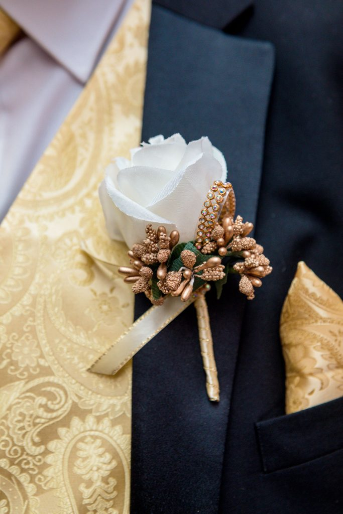 Grooms Button-hole, Tania Miller Photography, Cardiff Wedding Photographer