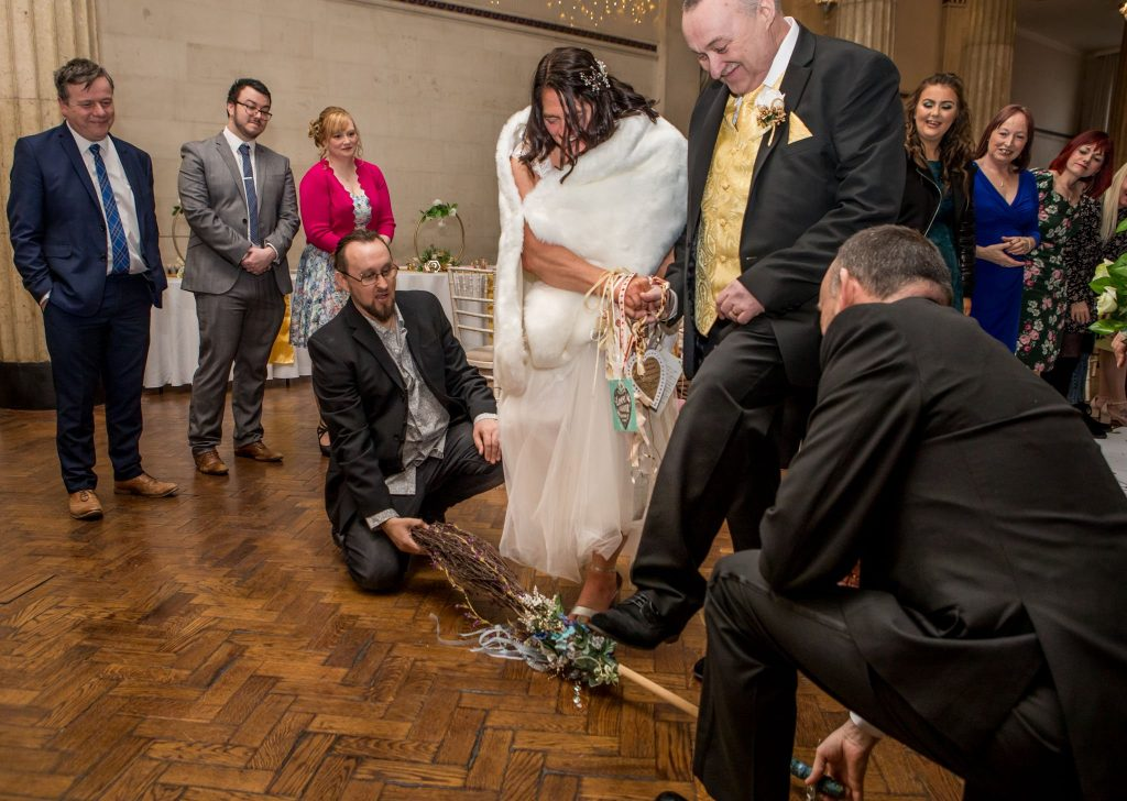 Jumping the Broom, Tania Miller Photography, Cardiff Wedding Photographer