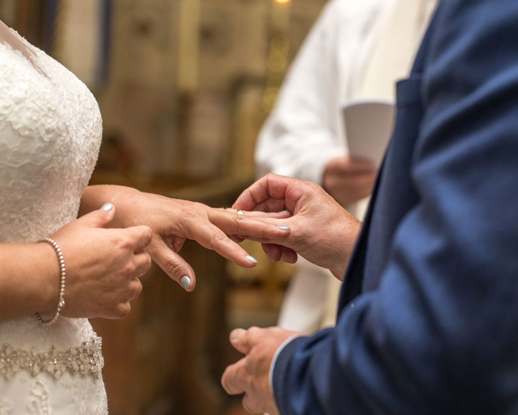 Exchanging of rings, Tania Miller Photography, Crickhowell Wedding Photographer
